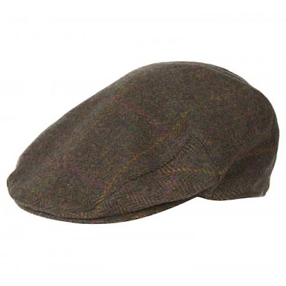 Barbour Crieff Cap, Olive/purple/yellow