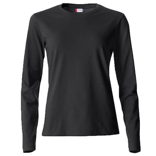 Clique Basic Naisten Pitkähihainen paita Musta