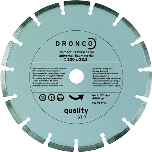 Timanttikatkaisulaikka Qual St-7 Dronco 22.23mm 2.0x125mm