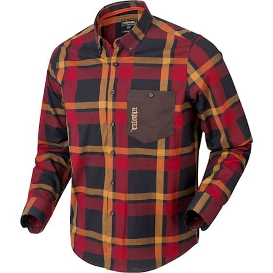 Härkila Amlet L/S Skjorta Röd Svart