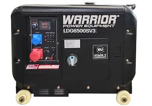 Warrior Elverk 5.5kW 3-fas diesel, ATS