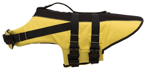 Flytväst för hund gul/svart XS