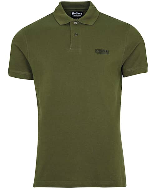 B.Intl International Essential Polo Shirt, Vintage Green - Herr