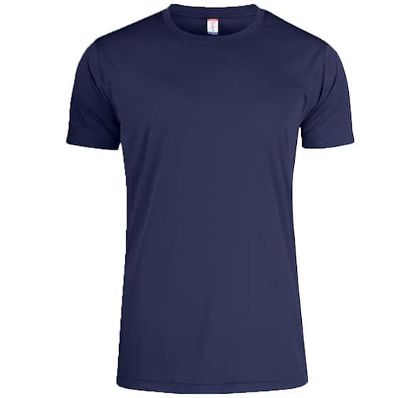 Clique T-shirt Funktion Herr Marinblå